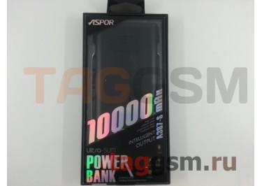 Портативное зарядное устройство (Power Bank) (Aspor A387-S, 2 входа Lightning / Micro, 2USB выхода 2400mAh  /  2400mAh) Емкость 10000mAh (черный)