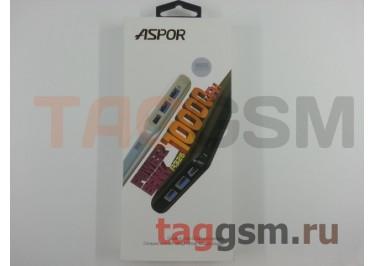 Портативное зарядное устройство (Power Bank) (Aspor A326, 2USB выхода 2400mAh) Емкость 10000mAh (белый)
