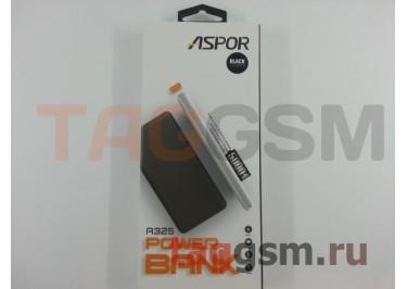 Портативное зарядное устройство (Power Bank) (Aspor A325, 2USB выхода 2400mAh) Емкость 5000mAh (черный)
