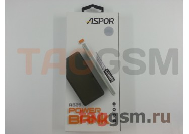 Портативное зарядное устройство (Power Bank) (Aspor A325, 2USB выхода 2400mAh) Емкость 5000mAh (белый)