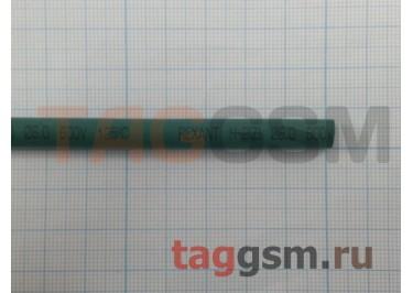 Термоусадочная трубка (6,0 мм  /  3,0 мм, длина 1м, зеленая) Rexant