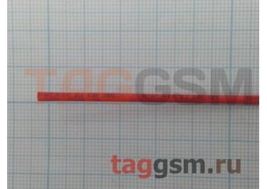 Термоусадочная трубка (1,0 мм  /  0,5 мм, длина 1м, красная) Rexant