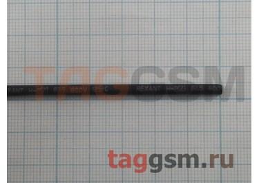 Термоусадочная трубка (2,5 мм  /  1,25 мм, длина 1м, черная) Rexant
