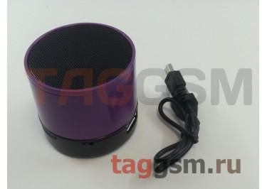 Колонка (Bluetooth, USB, microSD, фиолетовая) (S10)