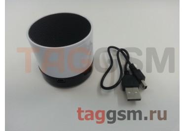 Колонка (Bluetooth, USB, microSD, белая) (S10)