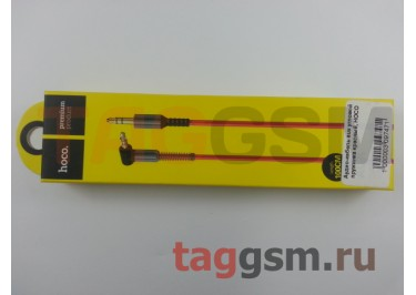 Аудио-кабель aux угловой пружинка красный, HOCO UPA02
