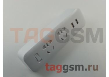 Сетевой фильтр Xiaomi MiJia Power Strip 1.8m 2 розетки + 2 USB 2.1A (MJEWZHQ-01QM)
