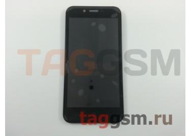 Дисплей для ZTE Blade L4 + тачскрин + рамка (черный)