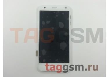Дисплей для ZTE Blade S6 + тачскрин + рамка (белый)