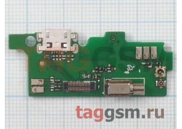 Шлейф для Alcatel OT-6043D Idol X + разъем зарядки + микрофон + вибро