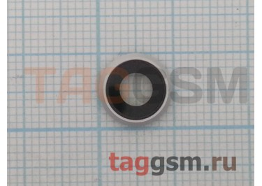 Стекло задней камеры для iPhone 8 (серебро)