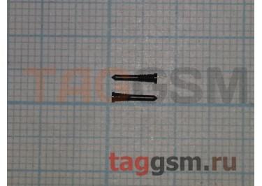 Винты для iPhone X / XR / XS / XS Max нижние (2шт) (черный)