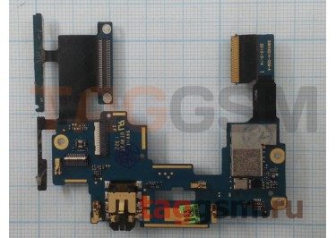 Шлейф для HTC One M7 Dual + кнопки громкости + разъем гарнитуры