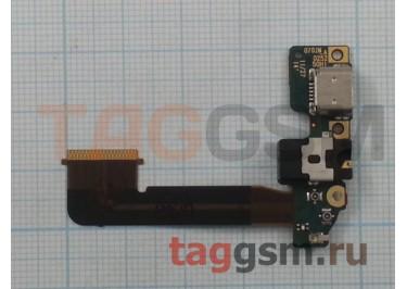 Шлейф для HTC One M9 + разъем зарядки + разъем гарнитуры + микрофон