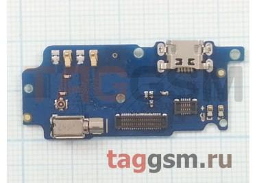 Шлейф для Meizu M5s + разъем зарядки + микрофон + вибро