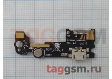 Шлейф для Asus Zenfone 3 Lazer (ZC551KL) + разъем зарядки + микрофон