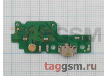 Шлейф для Huawei Y6 II + разъем зарядки + микрофон