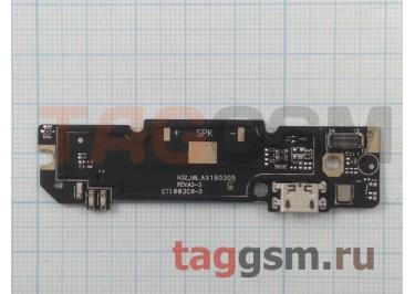 Шлейф для Xiaomi Redmi Note 3 + разъем зарядки + микрофон