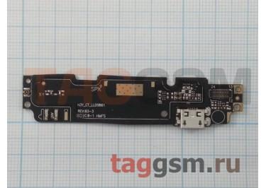 Шлейф для Xiaomi Redmi Note 2 + разъем зарядки + микрофон