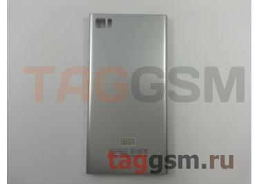 Задняя крышка для Xiaomi Mi3 (серебро)