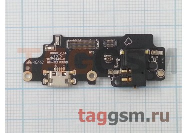 Шлейф для Meizu M5 Note + разъем зарядки + разъем гарнитуры + микрофон