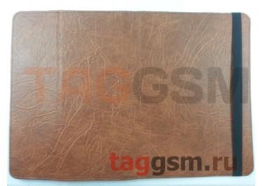 Сумка футляр-книга универсальная 10 дюймов (под кожу, с регулируемым креплением, коричневая) Мобитек