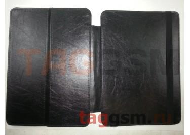 Сумка футляр-книга универсальная 10 дюймов (под кожу, с регулируемым креплением, черная) Мобитек