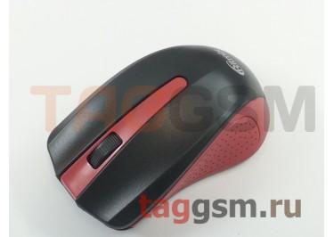 Мышь Ritmix беспров. опт., 4 кн, 1000 DPI, USB, черная с красной вставкой (RMW-555)