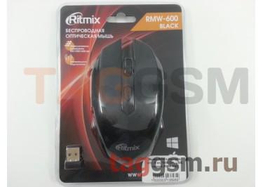 Мышь Ritmix беспров. опт., 6 кн, 1000 DPI, USB, черная (RMW-600)